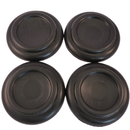Elysian Castor Cups in black plastic - set of 4